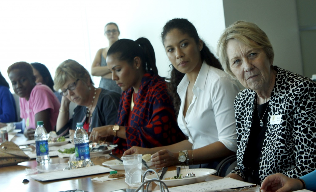 WOMEN'S SUPPORT: The Women's Fund of Miami-Dade, which supports programs for women and girls in our community, discusses opportunities for involvement during its monthly luncheon. (Photo by Diana Riojas)